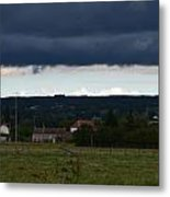 Stormy Countryside Metal Print