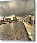 Stormy Day At Alphen Aan Den Rijn Metal Print
