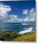 Stormy Day At The Beach Metal Print