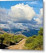 Stormy Day In The Desert Metal Print