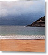 Stormy Day On The Beach Metal Print