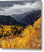 Stormy Fall Along The Alpine Loop - Utah Metal Print