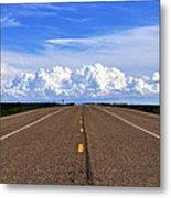 Stormy Highway Metal Print