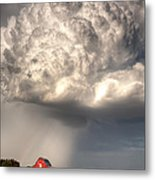 Stormy Homestead Barn Metal Print by Thomas Zimmerman
