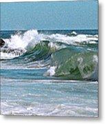Stormy Lagune - Blue Seascape Metal Print