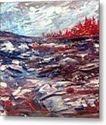 Stormy Lake Abstract Metal Print