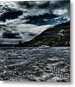Stormy Loch Ness Metal Print