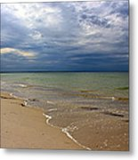Stormy Mayflower Beach Metal Print