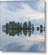 Stormy Morning On The Lake Metal Print