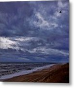 Stormy Morning Over Avon Pier 4 11/11 Metal Print