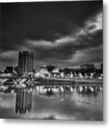 Stormy Morning Over Columbus Metal Print