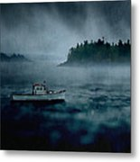 Stormy Night Off The Coast Of Maine Metal Print