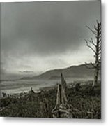 Stormy Oregon Coast Metal Print