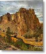 Stormy Over Smith Rock Metal Print