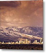 Stormy Reno Sunrise Metal Print