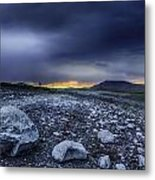 Stormy Rocks Metal Print