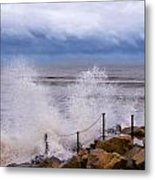 Stormy Seafront - Impressions Metal Print