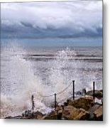Stormy Seafront  Metal Print