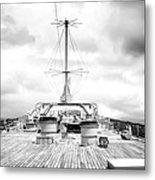 Stormy Ship Metal Print