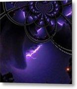 Stormy Skies Illusion Metal Print