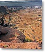 Stormy Skies In Canyonlands Metal Print