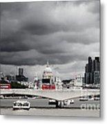 Stormy Skies Over London Metal Print