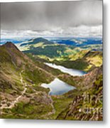Stormy Skies Over Snowdonia Metal Print by Jane Rix
