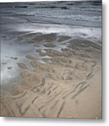 Stormy Skies Over The North Sea Metal Print