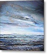 Stormy Sky  Hauxley Haven Series Blue Metal Print