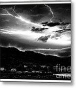 Stormy Sky - Lightening - Small Town Metal Print