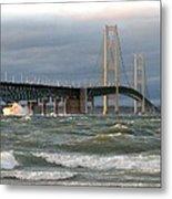 Stormy Straits Of Mackinac Metal Print