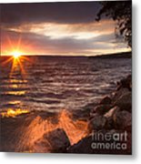 Stormy Sunrise Metal Print by Michele Steffey