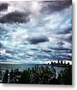 Stormy Sunrise Over Cleveland Metal Print