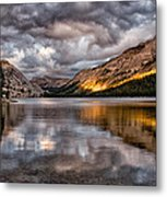 Stormy Sunset At Tenaya Metal Print