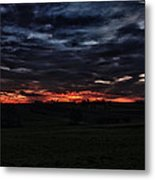 Stormy Sunset Metal Print by Miguel Winterpacht