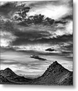 Stormy Sunset Over Nevada Desert Metal Print