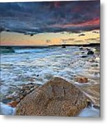 Stormy Sunset Seascape Metal Print