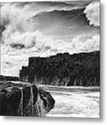 Stormy Surf Metal Print