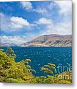 Stormy Surface Of Lake Wanaka In Central Otago On South Island Of New Zealand Metal Print