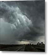 Stormy Whale's Mouth Metal Print