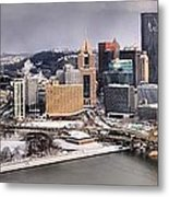 Stormy Winter Skies Over The Point Metal Print