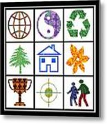 Story Line Happy Couples Happy Homes Focus Award Reward Green Balance Growth World  Signature Style  Metal Print