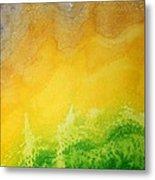 Stormy Mesa Original Painting Metal Print