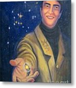 Storyteller Of Stars - Artwork For The Science Tarot Metal Print by Janelle Schneider