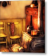 Stove - An Old Farm Kitchen Metal Print