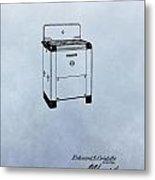 Stove Patent Metal Print