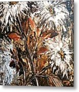 Straggly Flowers Metal Print