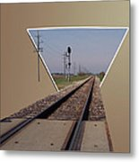 Straight As A Rail Metal Print