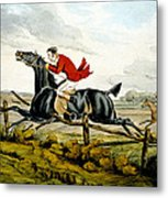 Straight Through The Fence From Qualified Horses And Unqualified Riders Metal Print
