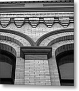 Straight Up Perspective - Black And White Metal Print